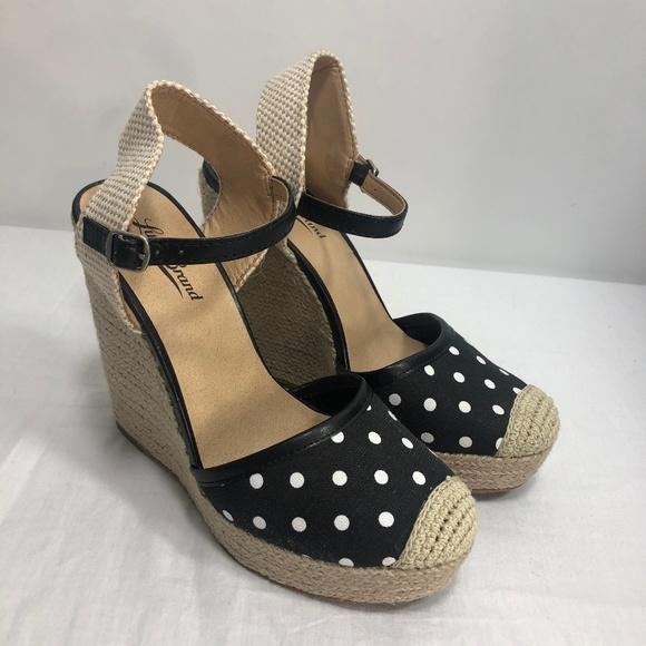 285226b5c53 Lucky Brand Shoes - Lucky Brand Espadrille Wedge Polka Dot Reandra